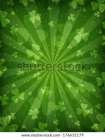 Abstract green background for St. Patrick's Day - stock photo