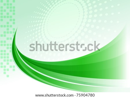 Abstract green  background jpg version - stock photo