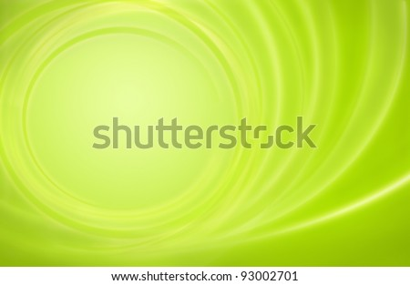 Abstract green background power energy storm circles with room for some content in the quiet center - stock photo