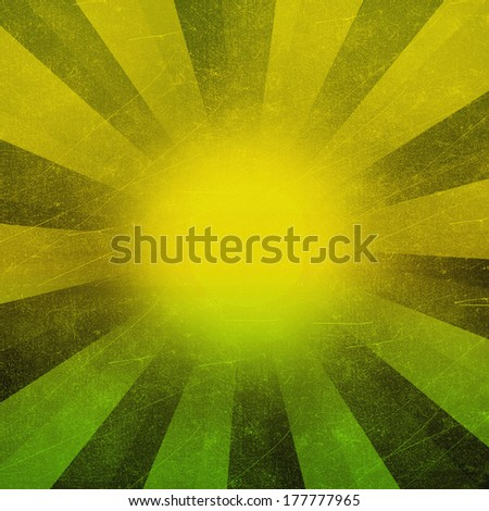 Abstract green background retro striped layout with old distressed vintage grunge background - stock photo