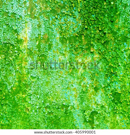 abstract green background texture rusty wall
