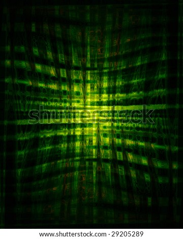 Abstract green background with a pattern in it