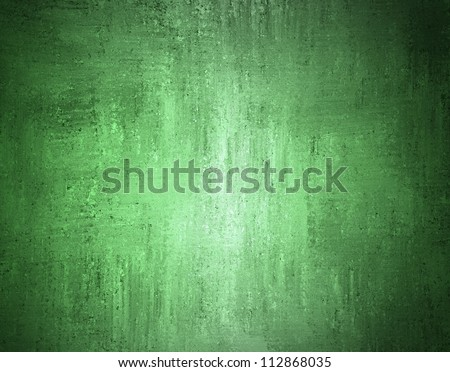 abstract green background with black edged border and vintage grunge background texture design on faded background for web template or brochure of shabby distressed style, Christmas background layout - stock photo