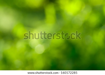 abstract green background with natural bokeh - stock photo