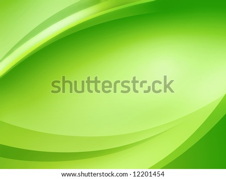 Abstract green background with smooth curves