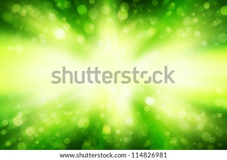 abstract  green bokeh background. - stock photo