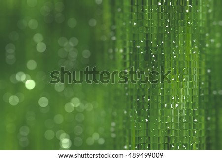 abstract green bokeh circles. Beautiful background with particles. illustration beautiful.