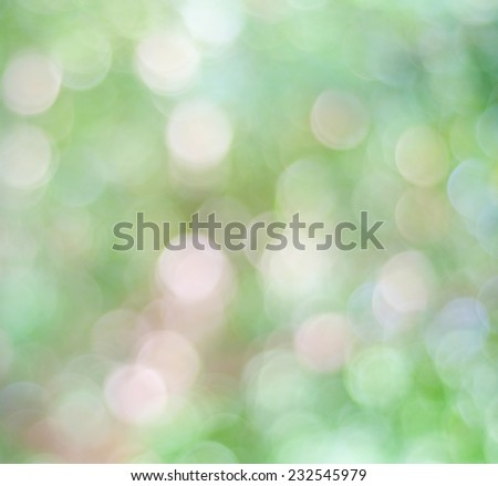 Abstract green bokeh, Festive, vintage background with defocused lights, template