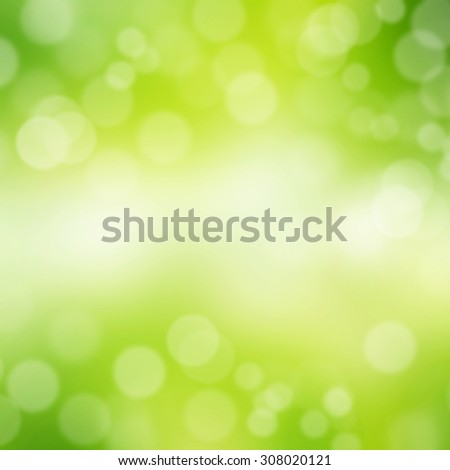 Abstract green color bokeh background. - stock photo