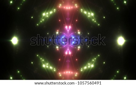 Abstract Green Creative Lights Background. Illustration Digital.