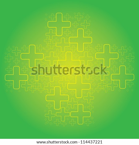 Abstract green cross medical background - stock photo