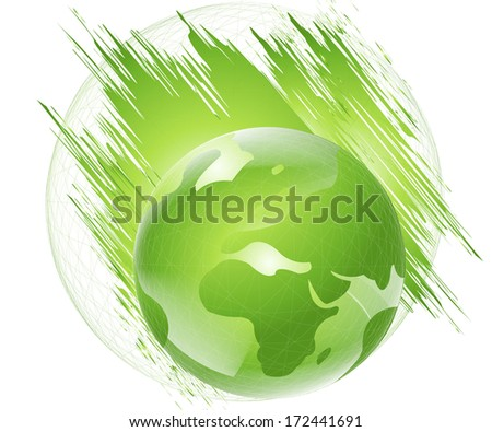 Abstract green earth Background - stock photo