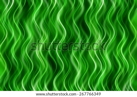 abstract green elegant background with waves and lines - stock photo