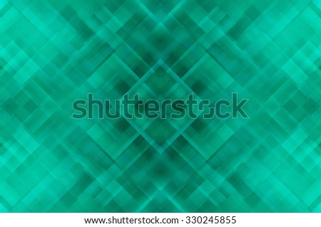 Abstract green fractal background with various color lines and strips - stock photo