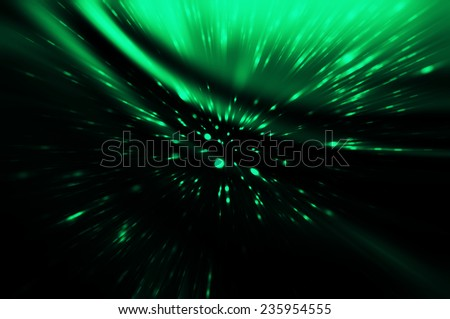 Abstract green fractal composition. Magic explosion - stock photo