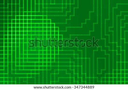 abstract green light and square background