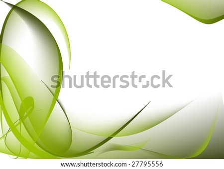 Abstract green lines background - stock photo