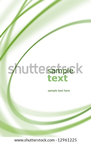 abstract green oval - stock photo