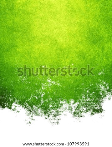 abstract green paint - stock photo