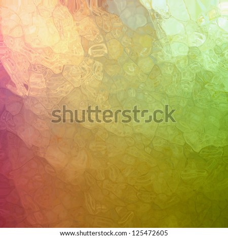 abstract green pink background, glossy glass texture with corner spotlight sunshine design and blotchy mosaic style design effect with metallic shine and random shape elements, artsy luxury background - stock photo
