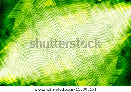 Abstract green technology background - stock photo