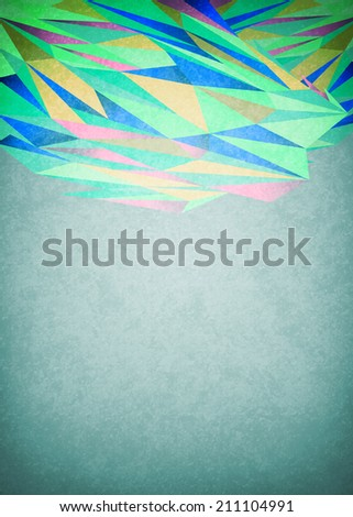Abstract green vintage background - ready for your text  - stock photo
