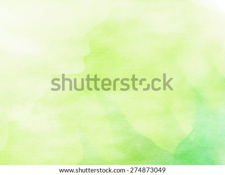 Abstract green water color for background - stock photo