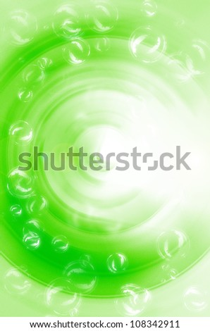 Abstract green with bubble background. - stock photo