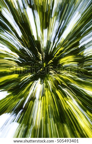 Abstract green zoom blur