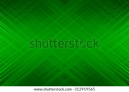 Abstract gren fractal background with various color lines and strips