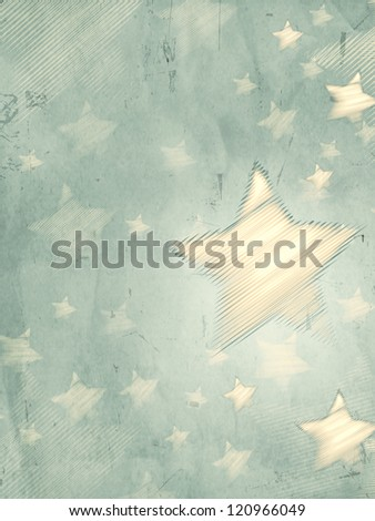 abstract grey background with illustrated striped stars, retro christmas card, vertical - stock photo