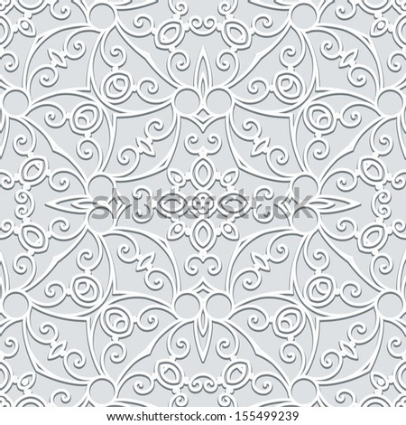 Abstract grey seamless pattern, raster background - stock photo
