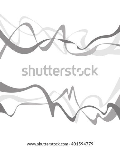 Abstract grey wave isolated on white background. illustration for modern business design. Futuristic wallpaper. Cool element for presentation