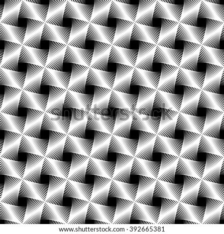 Abstract grid, mesh background. Monochrome reticulate geometric, grillage pattern. Seamlessly repeatable. - stock photo