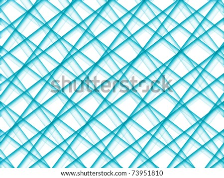 Abstract grid of blue grainy intersecting tubes on white background - stock photo