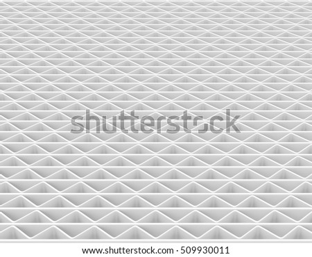 Abstract Grid Pattern Zigzag line repeat, 3d illustration and Rendering textured background. perspective view