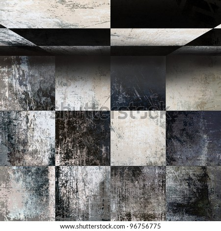 Abstract grunge background, checkered texture - stock photo