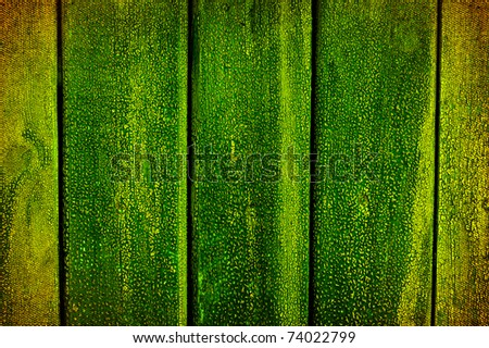 Abstract grunge background green boards.