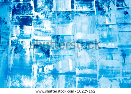 Abstract grunge background in cold ice blue tones