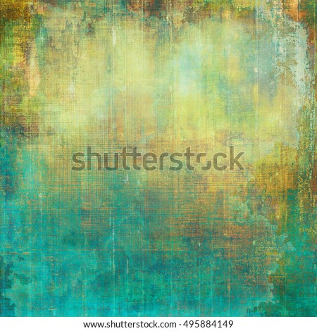 Abstract grunge background or aged texture. Old school backdrop with vintage feeling and different color patterns: yellow (beige); brown; green; blue; red (orange); cyan
