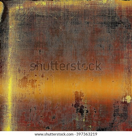 Abstract grunge background or damaged vintage texture. With different color patterns: yellow (beige); brown; red (orange); black; gray