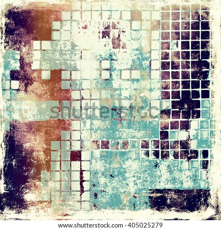 Abstract grunge background or damaged vintage texture. With different color patterns: yellow (beige); brown; blue; purple (violet); white - stock photo