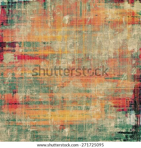 Abstract grunge background or old texture. With different color patterns: yellow (beige); gray; green; red (orange) - stock photo