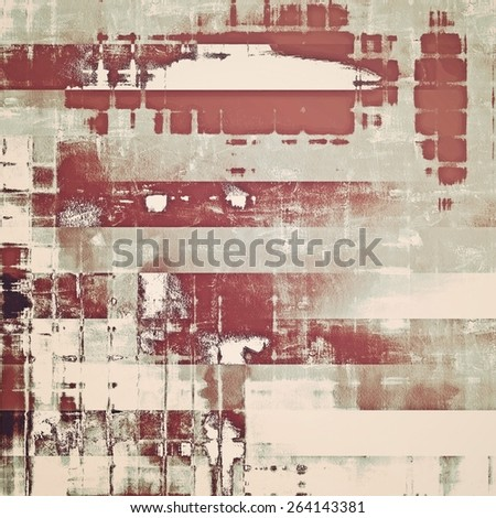 Abstract grunge background with retro design elements and different color patterns: yellow (beige); brown; gray - stock photo