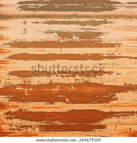 Abstract grunge background with retro design elements and different color patterns: yellow (beige); red (orange); brown - stock photo
