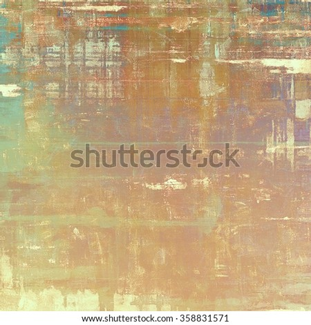 Abstract grunge background with retro design elements and different color patterns: yellow (beige); brown; cyan; purple (violet) - stock photo