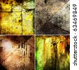 abstract grunge backgrounds set - stock photo