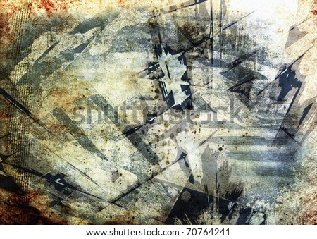 Abstract grunge composition - stock photo