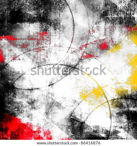 Abstract grunge composition, color background - stock photo