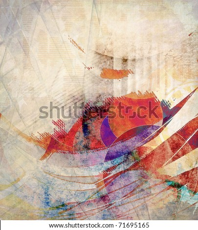 Abstract grunge composition, colorful background - stock photo